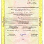 Приложение к свидетельству о госаккредитации